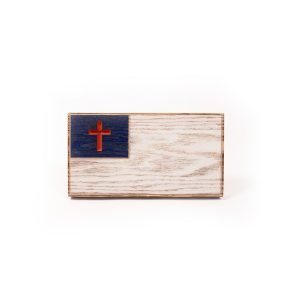 Image of classic desktop office Christian flag