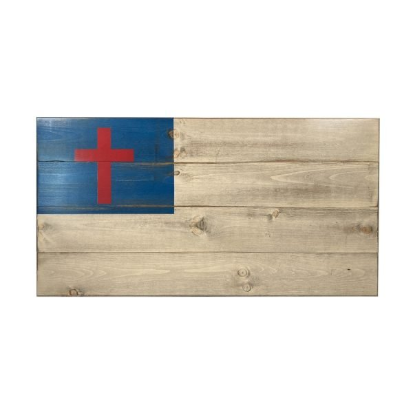 Image of Classic Medium Christian Wood Flag from Greater Glory Co