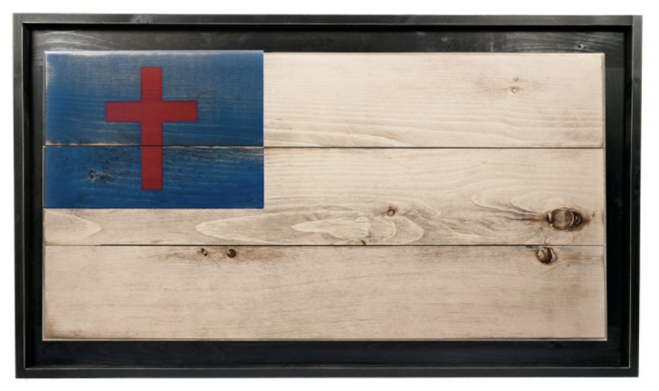 Small Framed Classic Christian Flag - Collective of The Cross